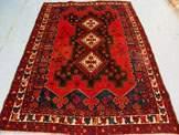 3197 Semi Antique Persian Afshar Rug 7x5 2731
