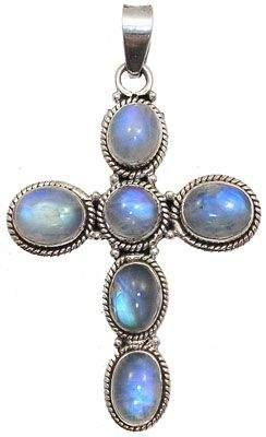 SSilver Moonstone cross pendant: 795826
