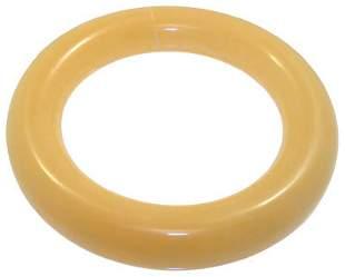 Yellow Jade solid Bangle Bracelet: 653352