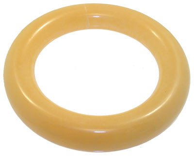 4259: Yellow Jade solid Bangle Bracelet: 653352