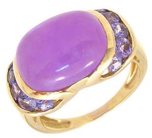 14KY Lavender Jade Tanzanite ring: 789734