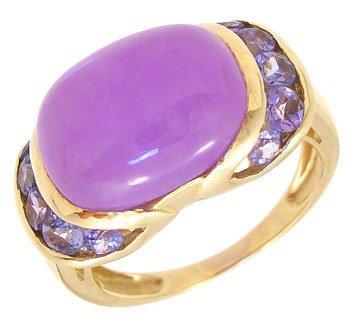 4260: 14KY Lavender Jade Tanzanite ring: 789734