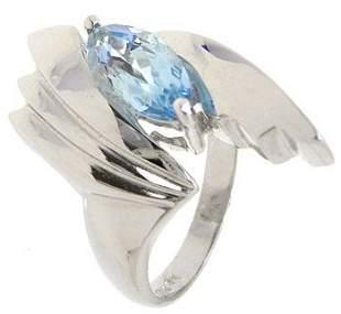 14KWG 1.27ct Blue Topaz ring: 113586
