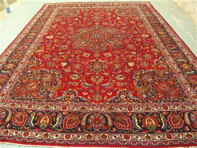 4449: Stunning Large Persian Mashad Rug 13x10: 3440