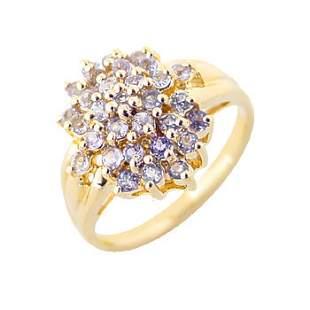 YG .85Ct Tanzanite ring: 100267