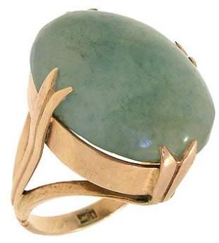 18KY Aventurine Antique Ring: 840547
