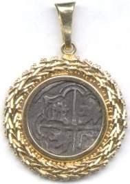 14KT Satuma silver Indian coin pendant: 635595