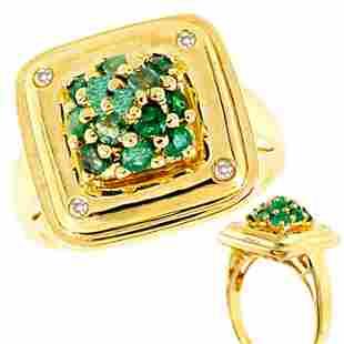 .60cttw emerald dia square head ring: 120496