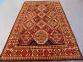 Rare Vegetable Caucasian Kazak Rug 9x5: 2955