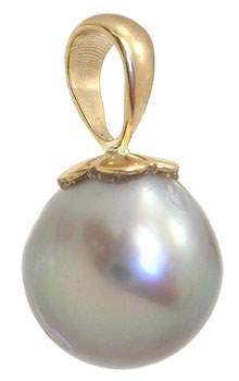 14KY 11.5mmTahitian pearl pendant: 962267