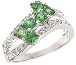 18KW .75ct Tsavorite Diamond Ring: 738856