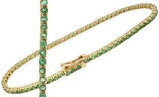 14KYG 5ct Tsavorite Garnet bracelet: 653508