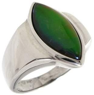 14KW Ammolite Marquise bezel Ring: 105694