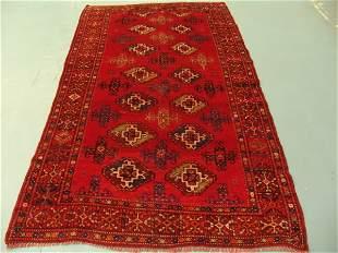Semi Antique Afghan Kurdish Rug 6x4: 3486