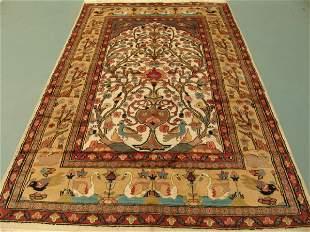 Kashmir Silk & Wool Pile Cashmiri Rug 8x6: 3428
