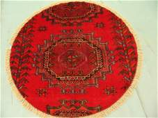 5444: Round Persian Saveh Rug 4x4: 3526