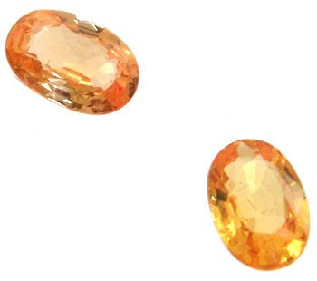255: 1 ct plus golden sapphire matched pair Loose: gs10