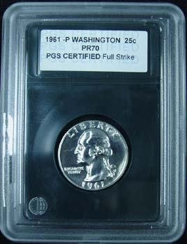 1022: 1961 PROOF CERTIFIED SLABBED COLLECTION 4 COINS: