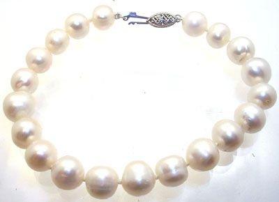 1288: 14KW 8.5/9.5m white pearl Bracelet 7.5inch: 65357