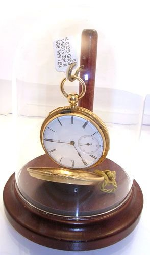 1416: 1871 GAIL BORDEN-PRE ELGIN-18K SOLID GOLD POCKET
