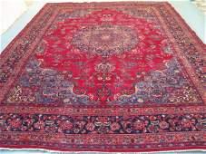 2449: Stunning Large Persian Mashad Rug 13x10: 4290