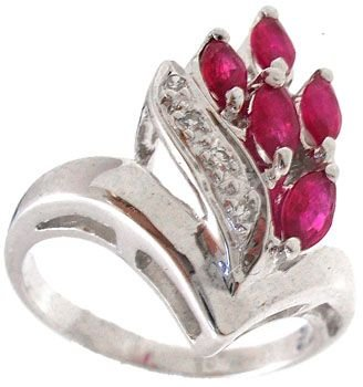 6251: 18KW .50cttw Ruby diamond marquise ring: 652007: