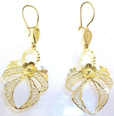 6262: Fancy Angel Dangle Earrings: 600009: