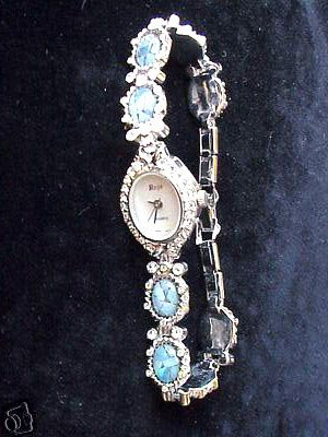 6273: OPAL AND RHINESTONE LADIES WRISTWATCH: 841151:
