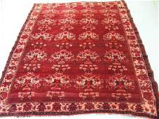 6396: Semi Antique Afghan Kurdish Rug 8x7: 4616: