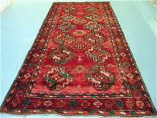 6470: Semi Antique Afghan Kurdish Rug 10x5: 5286: