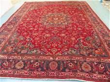 7419: Signed Large Persian Mashad Rug 13x10: 3920