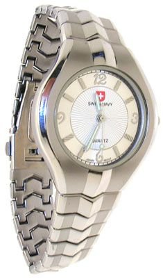 272: Stainless Steel Swiss Navy Silver Dial Watch