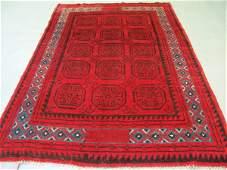 421: Semi Antique Afghan Kurdish Rug 9x6