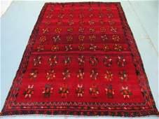 448: Semi Antique Afghan Kurdish Rug 7x5