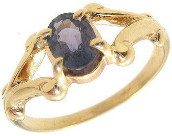 1257: 14KY .50ct Color Change scroll shank ring: 635406