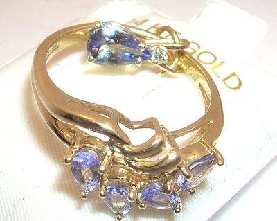 2261: Gift Set! 1.50ctw Tanzanite Ring/Pendent: set36a
