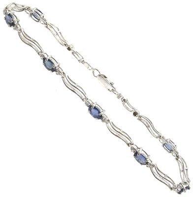 2262: 14KW 2.3CTSapphire & .1CTDiamond bracelet: 941154