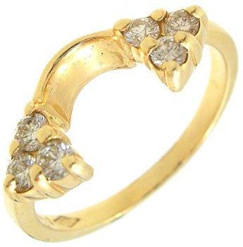2268: 14KY .20cttw Diamond trio wrap ring: 657359