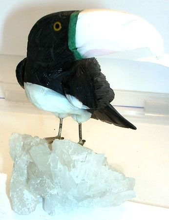 2270: Carved Mineral Tucan #3: cmt3