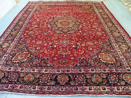 2299: Stunning Large Persian Mashad Rug 13x10: 7300