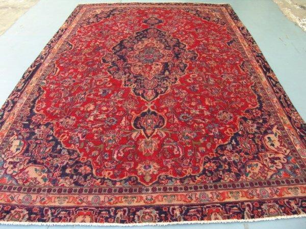 2448: Stunning Large Persian Kashan Rug 11x8: 4810