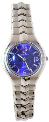 3270: Stainless Steel Swiss Navy Blue Dial Watch: 64111