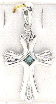 4250: 14KW.15cttw BlueDiamond Princess cut pendant: 757