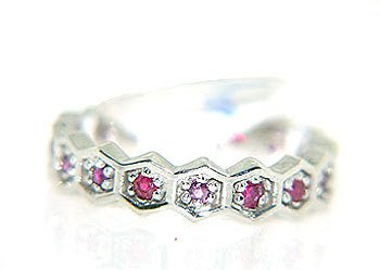 4262: 14KW .60cttw RUBY BAND RING: 841356