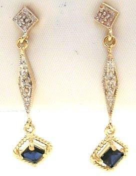 4263: 14KY .84ct Sapphire/Diamond Earrings: 757642
