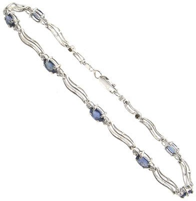 4264: 14KW 2.3CTSapphire & .1CTDiamond bracelet: 941154