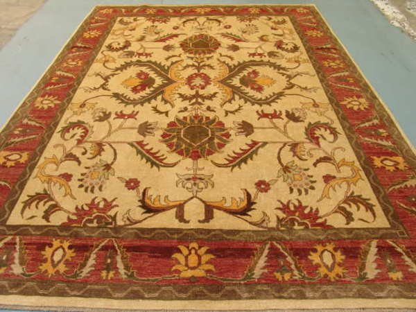 4299: Rare Vegetable Afghan Chobi Large Rug 11x8: 4779