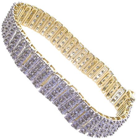 4338: 10KY 5ct Diamond 4 row relax style bracelet: 6354