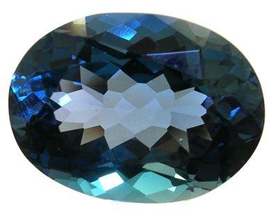 1256: 11ct London Blue Topaz loose Oval Stone: blt11