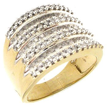 550: 10KY .50 cttw Diamond Channel set ring: 757344